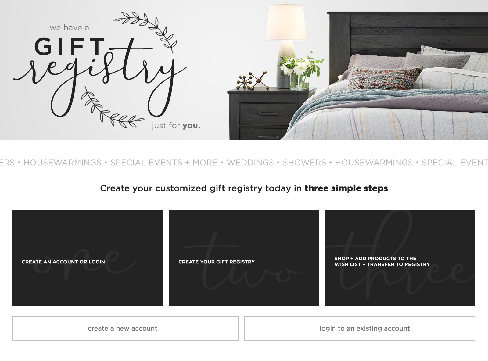 Wedding Gift Registry at City Living Furniture